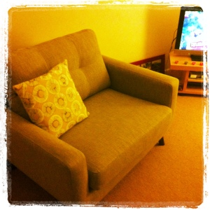 I bought a sofa! And a hoover (not pictured).